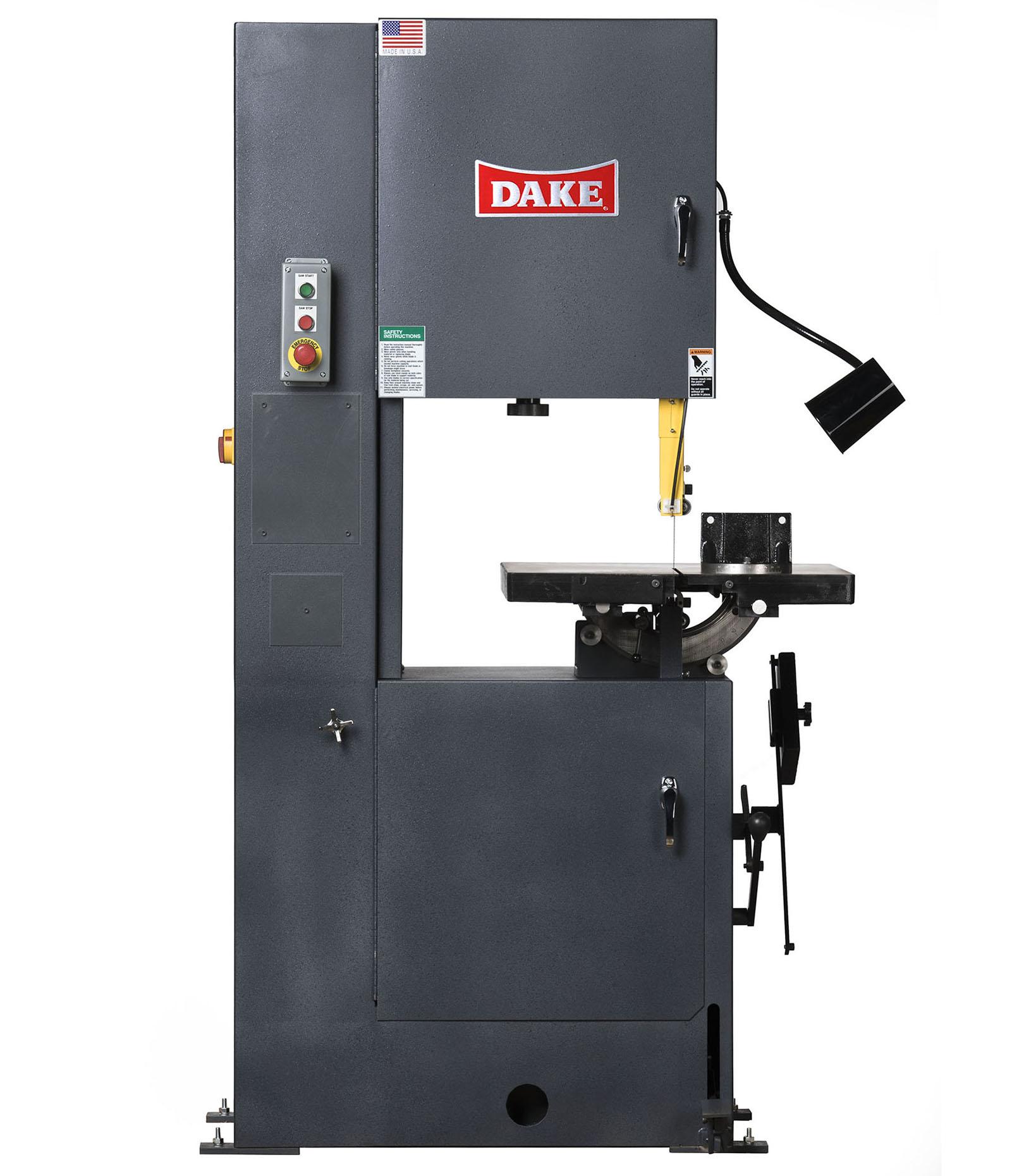 Trademaster Vertical Bandsaw | Dake Corp