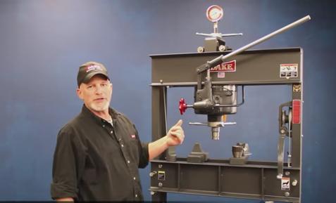 Dake 50h Press 50 Ton Hand Operated Hydraulic Press Dake